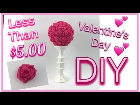 Valentine S Day Diy Topiary Dollar Tree Country Girl