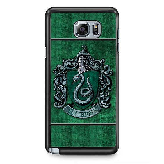 Harry Potter Slytherin House Flags TATUM-5142 Samsung Phonecase Cover Samsung Galaxy Note 2 Note 3 Note 4 Note 5 Note Edge