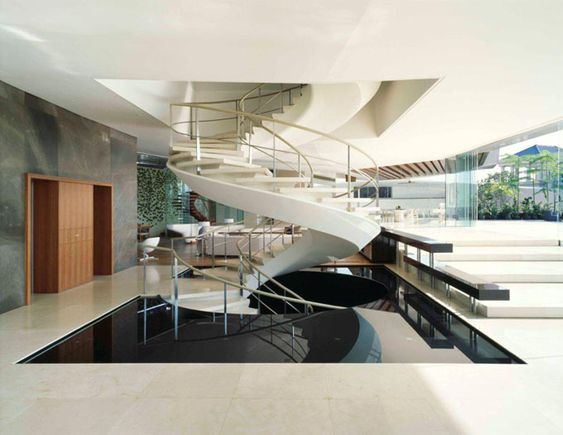 Inside Huge Houses inside, prominent examples of this curvilinear elegance include