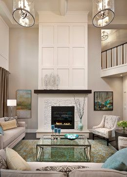 Keswick Showhome transitional-living-room | Home - Fireplace ...