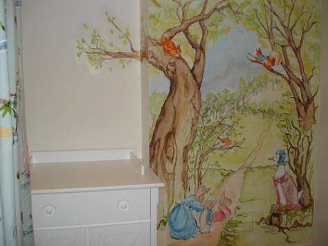 Lovely Peter Rabbit Wall Mural Beatrix Potter Mural Stickers Peter Rabbit Decal  Peter