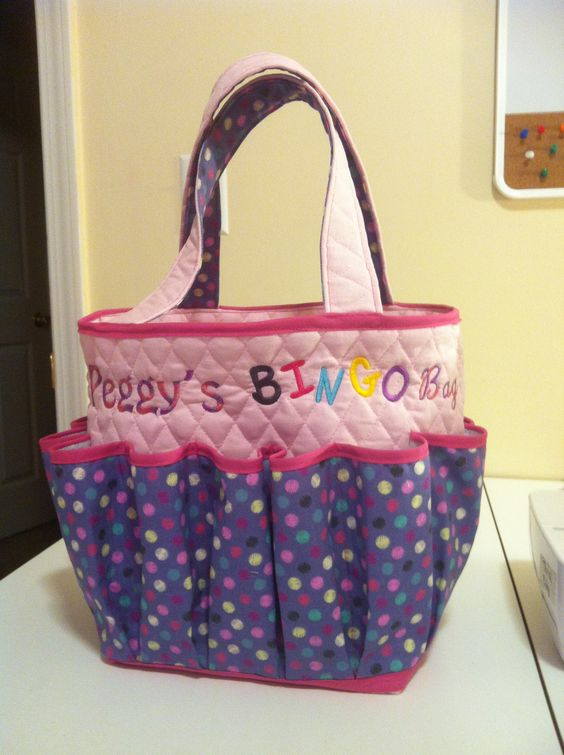 A bingo bag I made and embroidered! | Kayjon Designs ...