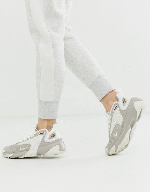 Nike beige and white zoom 2k sneakers