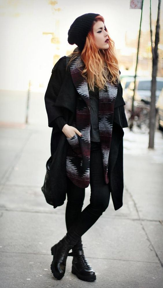 winter style grunge coat layers my style pinterest style boots and ps. Black Bedroom Furniture Sets. Home Design Ideas