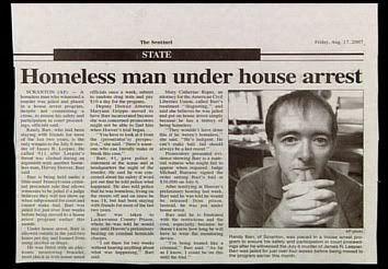 Homeless man...