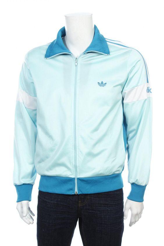 Rare Vintage 80s Adidas Trefoil Tracksuit Top Windbreaker jacket