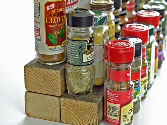 Spice Cabinet - Repurposing Everyday Items for a More Organized Home on HGTV... hummm make it yourself?