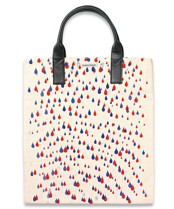 Rain Drops Canvas Tote Bag, Simeon Farrar