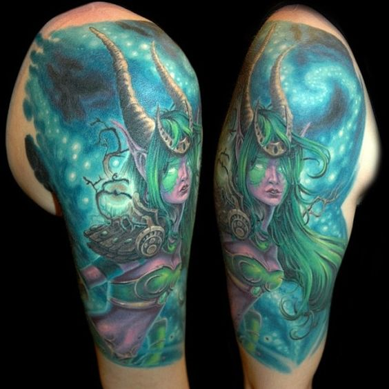 World of Warcraft ~ Tatouage ~....comment dire.. : INCROYABLEMENT BEAU ? Oui.