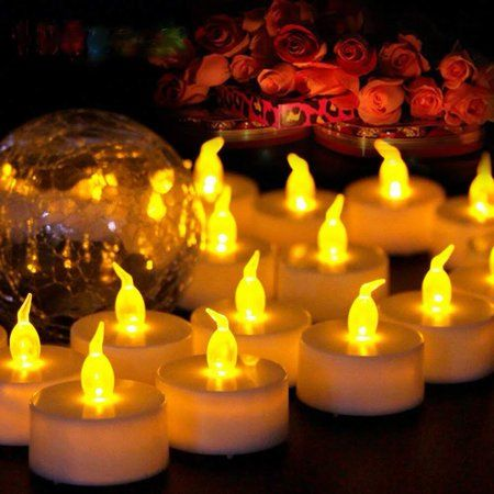 Led Tea Lights Candles A Electronic Candles Flickering Flameless