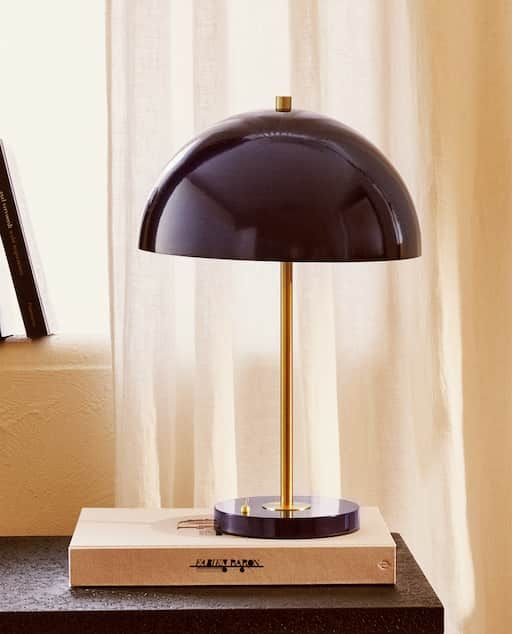 Image 1 Of The Product Lamp With Metal Dome Lampshade In 2020 Zara Home Beleuchtung Wohnzimmer Dekorative Lampen