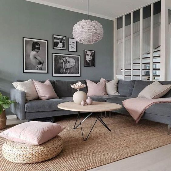 How To Decorate A Grey And Blush Pink Living Room Living Room Grey Living Room Decor Apartment Pink Living Room
