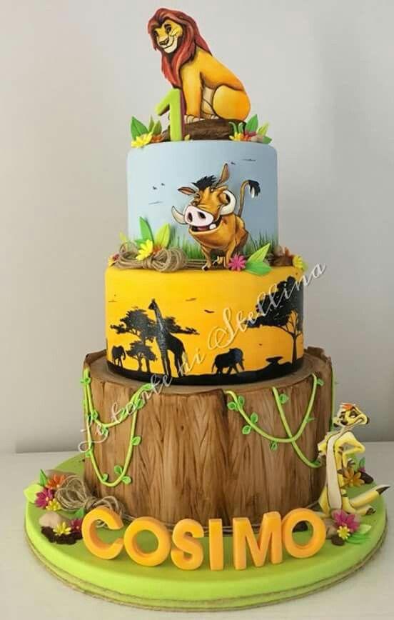 Pastel Del Rey Leon Lion King Cakes Lion Birthday Cake Disney Birthday Cakes