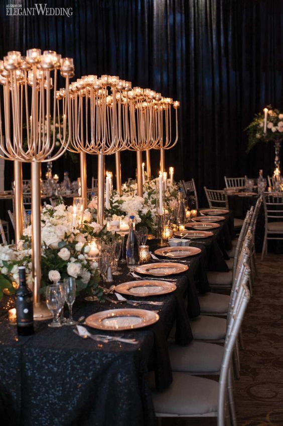 Stunning Black and Gold Theme Ideas to Use in Your Wedding, bd3952fda0ec3a070efa38307dbd1ef3