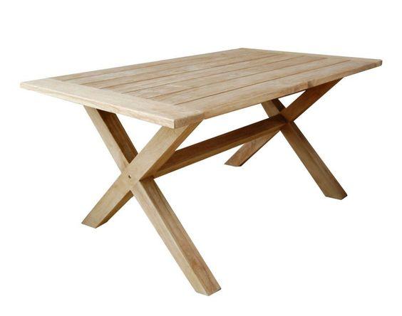 Atleve TEAK X Holztisch Gartentisch Garten Tisch Teaktisch 160 x - lounge tisch garten holz