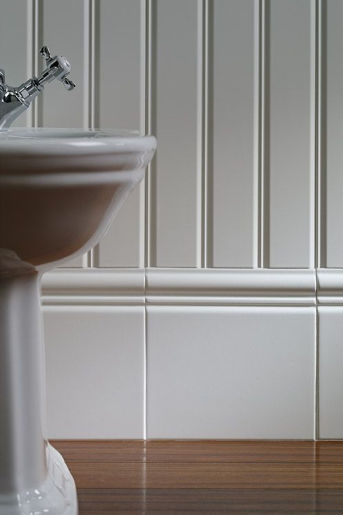 Beading For Bathroom Floor : Boiserie ceramic bead board tile by grazia this is the