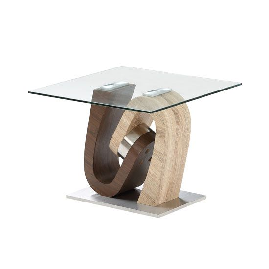 Tripoli Lamp Table In Clear Glass Top With Stainless Steel Base Glass Top End Tables Steel Table Base Living Room Furniture Sale