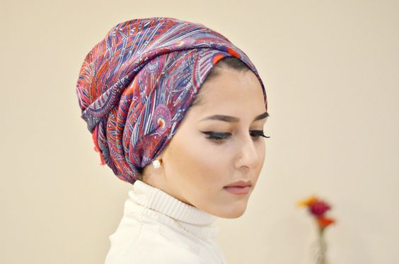 TURBAN TUTORIAL|GIVEAWAY|OOTD! love this tutorial, especially style 2