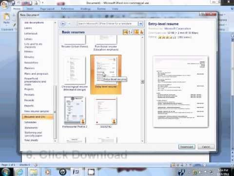 How to Use Resume Template in Microsoft Word 2007 | Create ...