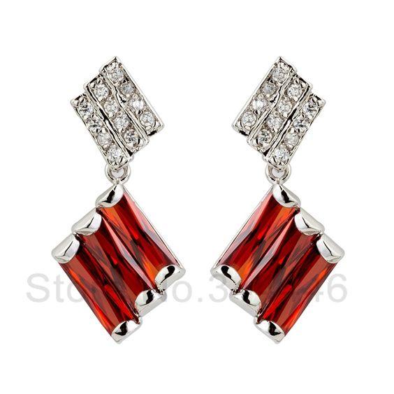 free ship Zircon earrings popular Korean version of the exaggerated retro Austrian crystal earrings $11.20