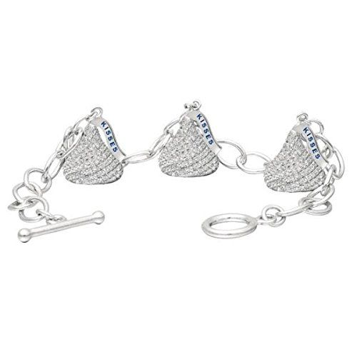 Hershey's Kiss Diamond Toggle Bracelet 3 Charms 14k White Gold 3.45ct. Certified Appraisal by G.I.A., A.J.P. included with your purchase via e-mail. Risk Free 30-Day Money Back Guarantee!. We certify to the best of our knowledge that our diamonds are conflict free.