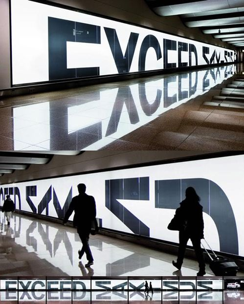 Installation for BMW at Hamburg airport by Serviceplan - stunning sign that is also very clever.