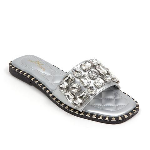Details about  /PZAZ  NInety Union By Lady Couture Flat Sandals with Giant Stones Women/'s Shoes