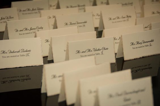 custom printing of Escort cards, Place Cards, Table numbers, Invitations and more! www.TheWeddingAgent.biz