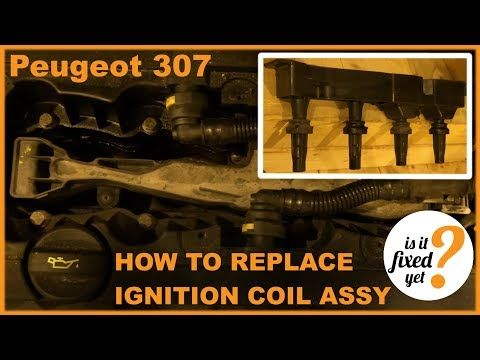 Replacing Ignition Coil Assembly Peugeot 307 Youtube Ignition Coil Peugeot Ignite