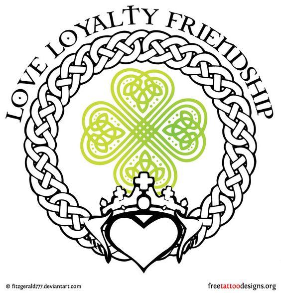 77 irish tattoos shamrock clover cross claddagh tattoo designs artsy fartsy pinterest. Black Bedroom Furniture Sets. Home Design Ideas