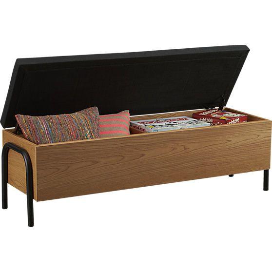 lift storage bench in storage furniture cb2 62wx1875dx19 cb2 bedroom furniture