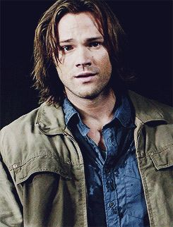 Jared Padalecki as Sam Winchester >> it's the puppy dog look XD