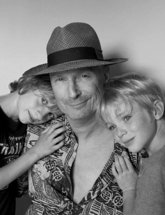 Mitch Waite with his boys