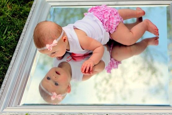 on a mirror!