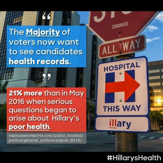 #HillarysHealth