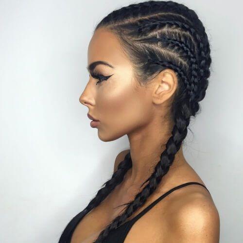 Mixed Ghana Braids Braided Hairstyles Boxer Braids Hairstyles Hair Styles