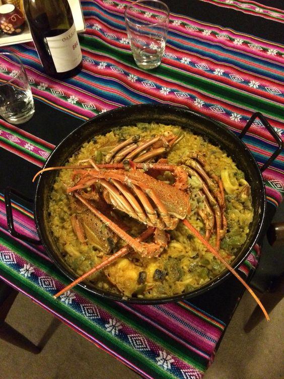 #paella #ilikerice #langosta #cooking
