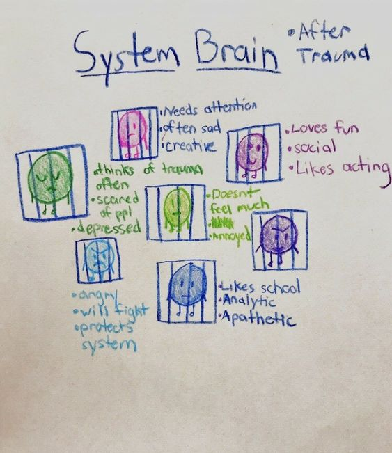 DID and OSDD system brain
