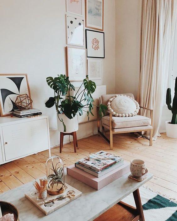 Living room boho style - Decor em Pauta @decorempauta #boho #decor #interiordesign #decoração #etnico #bohochic