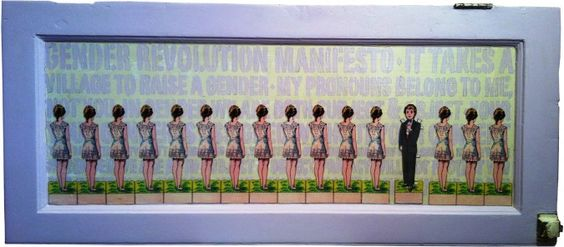"Paper Doll Manifesto: Artwork for Sylvia Rivera Law Project Art Show ""Small Works for Big Change"""
