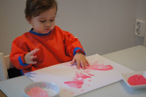 Edible Finger Paint for Valentine's Day
