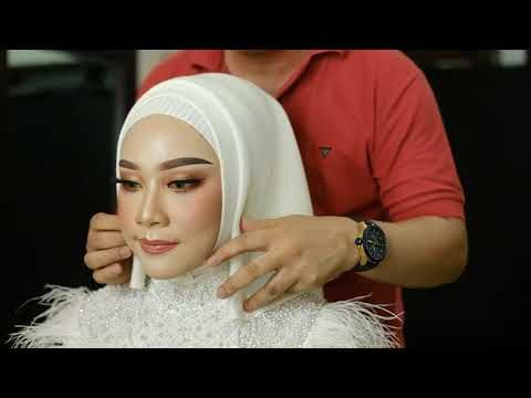 Hijab Pengantin Wedding Simple 1 Youtube Di 2020 Kursus Hijab Make Up Pengantin