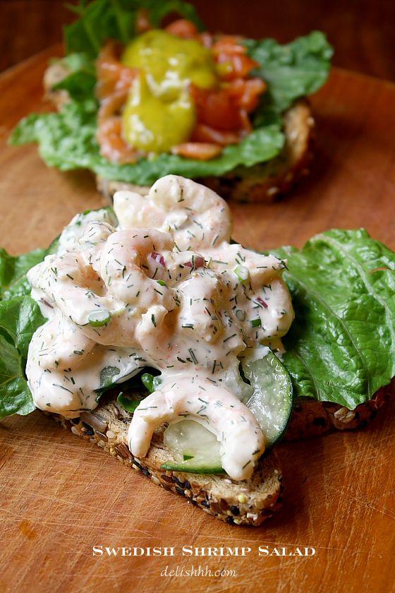 Swedish shrimp salad also called skagenr ra shrimp for Swedish fish recipe