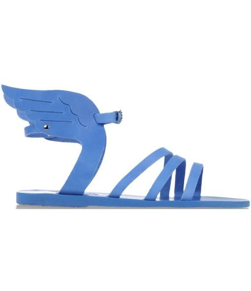 hermes apollo greek shoes wings blue