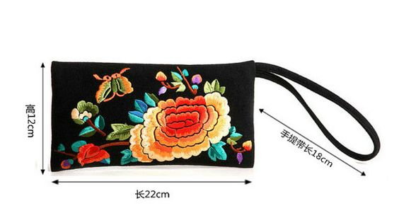 Vintage traditional Chinese embroidered purse bag by littlePurser, $9.99