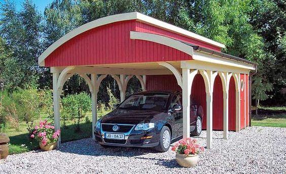 euro carport | carports blickfang carport capri die tragenden holzelemente bestehen ...