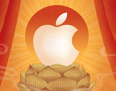 """Check out new work on my @Behance portfolio: """"Apple Religion in China""""…"""
