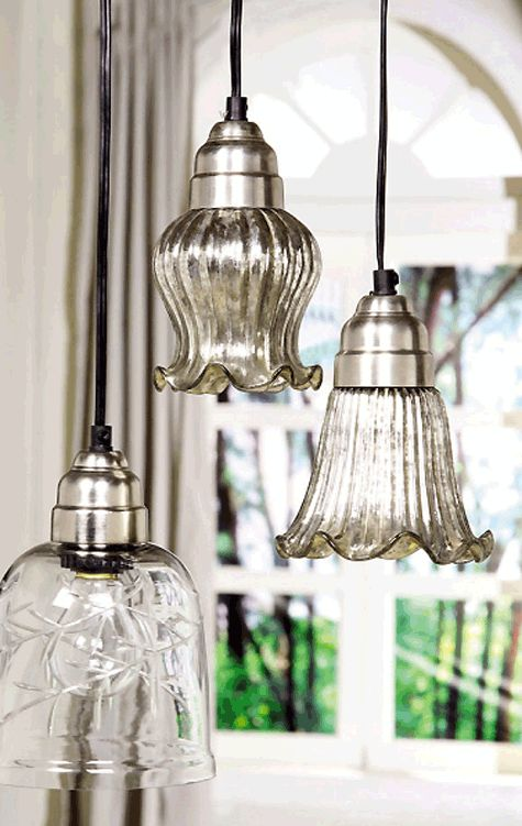 Mercury Glass Light Pendants: