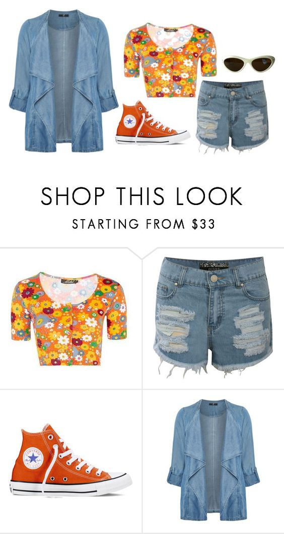 """""""Get Funky"""" by melodychild ❤ liked on Polyvore featuring Topshop, Pilot, Converse and Evans"""