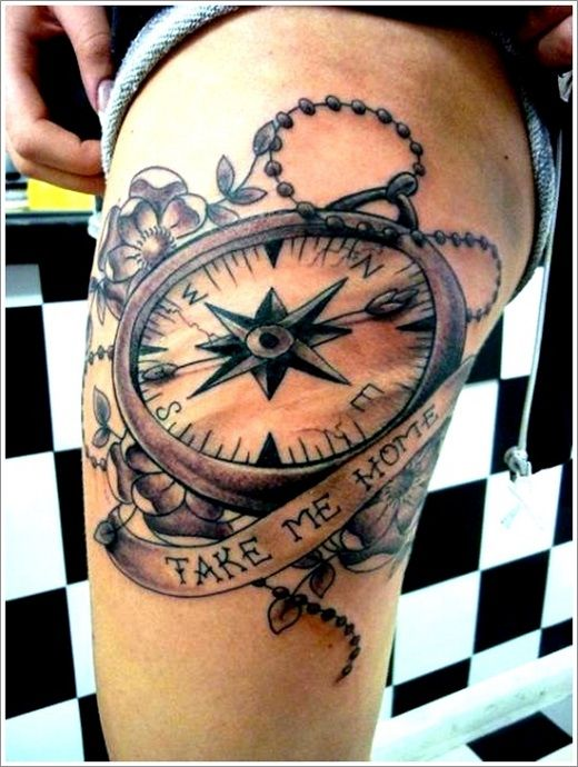 17 Best images about Compass Tattoos For Men   Men and women ...